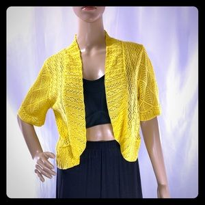 Perceptions New York Knit Lace Bolero Shrug XL